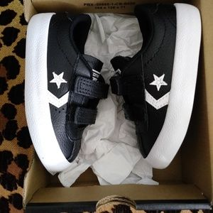 f0652da3f93 Converse Shoes - Black Converse Breakpoint 2V Leather Boys Sneakers